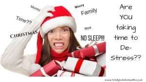 Are you taking time to De-Stress this Christmas?