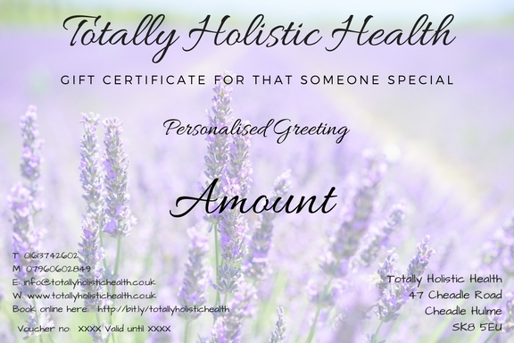 Personalised gft voucher